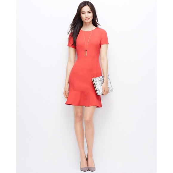1f82118941a Ann Taylor Dresses   Skirts - Ann Taylor Flounce Ruffle Hem Dress
